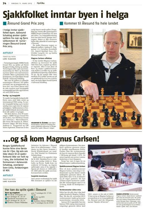 Artikkel om Ålesund Grand Prix kan du lese i Nytt i Uka
