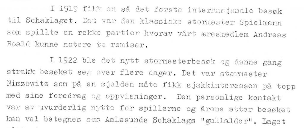Aalesunds Schaklag 1913 - 1963 - Faksimile