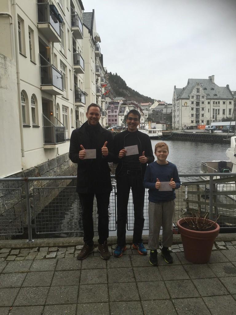 2, 1 og 3 plass. Odin, Sondre og Mathias.