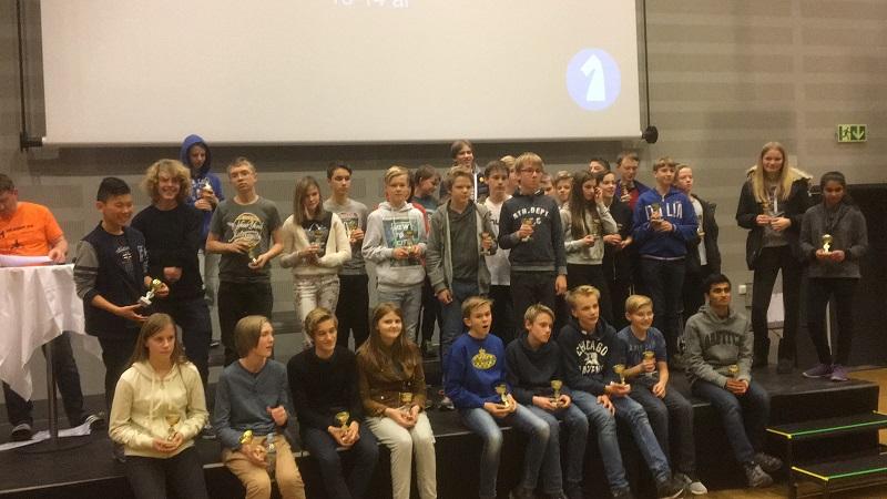 Gruppe C, 13-14 år. Andreas og Niklas i midten.