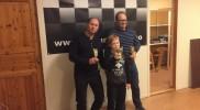 Gruppe B i kretsmesterskapet. Jan Erik, Mathias og Kjetil